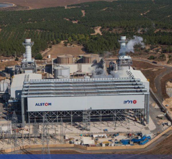 עבודות תשתית וגמרים בתחנת כוח צפית, ALSTOM, דליה אנרגיה